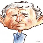 A caricature of George W. Bush