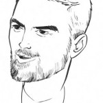 A simple drawing of George Clooney