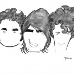 A stylized caricature of the Jonas Brothers.