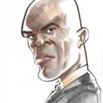 Caricature of a grim Samuel L. Jackson