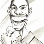 A cartoon of Chris Rock