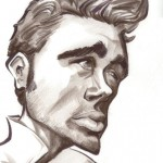 A caricature of James Dean