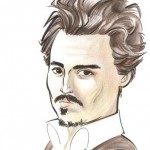 A caricature of Johnny Depp