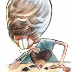 Caricature of Justin Bieber