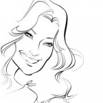 A caricature of Kate Hudson