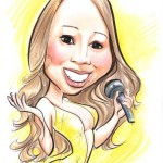 A caricature of Mariah Carey