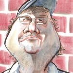 Caricature of Michael Moore