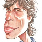 Big-headed caricature of Mick Jagger