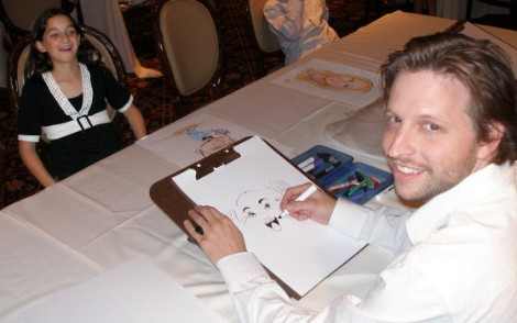 Me drawing in Los Angeles