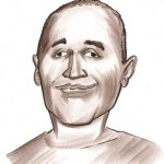Caricature of O J Simpson