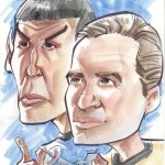 A caricature of Captian Kirk and Spock