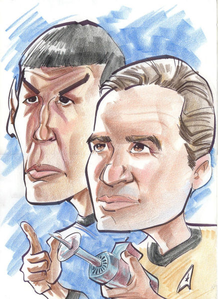 Star Trek the Next Generation by jlcomix on DeviantArt |Drawing Cute Cartoon Star Trek Kirk
