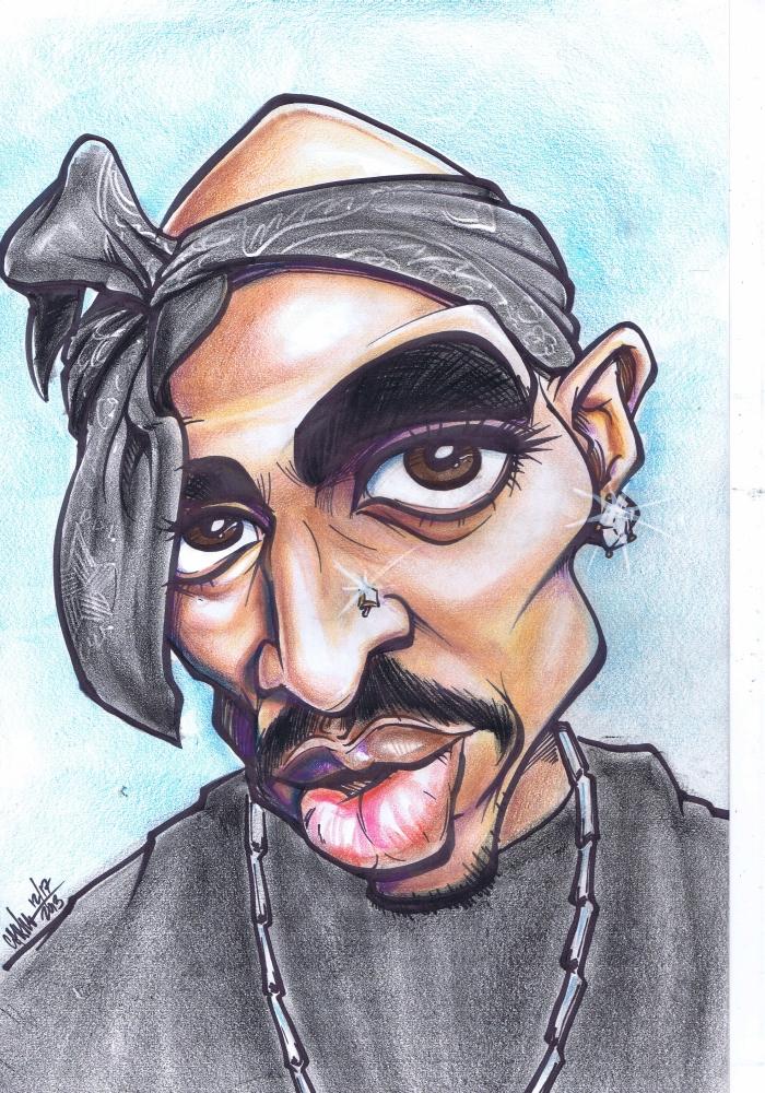 Tupac Shakur caricature