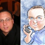 A caricature of an online customer
