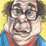 A caricature of Danny Devito by Celeste Cordova