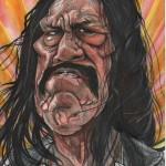 A caricature of Danny Trejo by Celeste Cordova