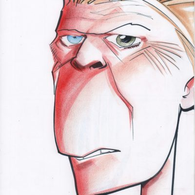 A Caricature of David Bowie by Artist Tielman Cheaney