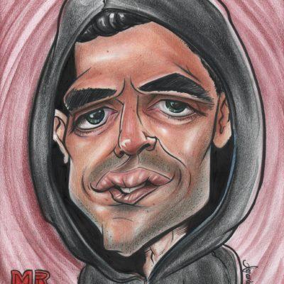 "Amanda Nikki - Rami Malek ""Mr. Robot"" Caricature"