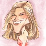 A caricature of Jennifer Aniston