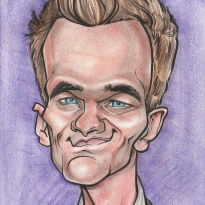 A caricature of actor Neil Patrick Harris, drawn by Celeste