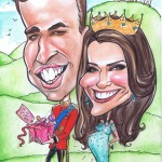 Prince William and Kate Middleton caricature