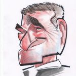 caricature of Robin Williams
