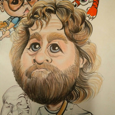 Ken Harmon Zach Galifianakis caricature