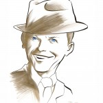 A caricature of Frank Sinatra