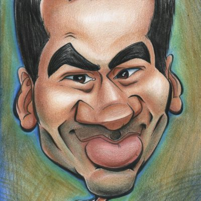 caricature of actor kal penn by Dominique Chavira