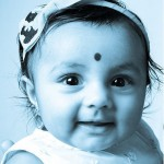 A photo of an Indian baby