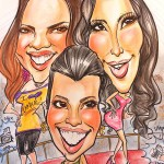 A caricature of the Kardashians