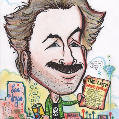 Caricature of Jason Lee as Earl, by Mike Warden