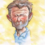 A caricature of Sean Penn